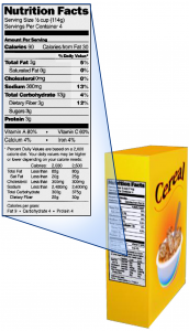 Cereal label
